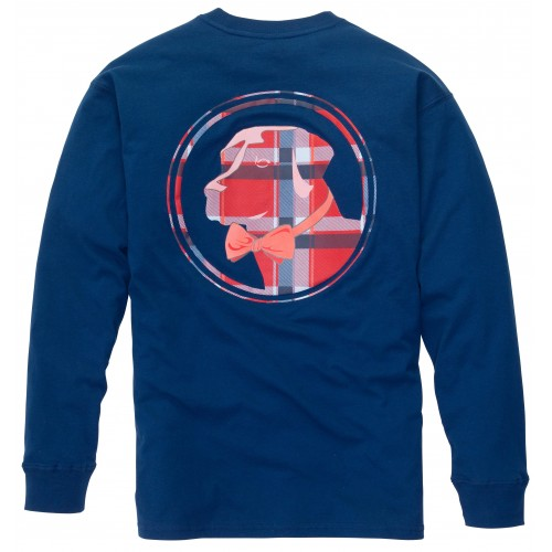 Plaid Lab Tee: Reflecting Pond Long Sleeve
